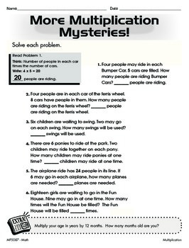 Multiplying and Dividing to Solve Word Problems (CCSS 3.OA.A.3)