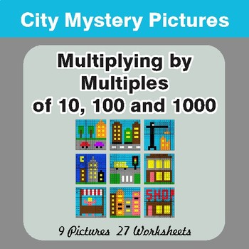 Multipying by 10, 100, 1000 - Mystery Pictures