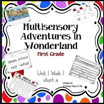 Multisensory Adventures in Wonderland -- First Grade Unit 1 week 1