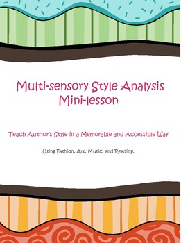 Multisensory Author's Style Mini-Lesson