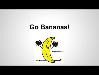 Multisensory Book - Reading through movement - Level A book - Go Bananas!