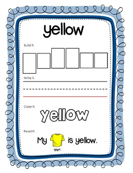 Multisensory DOLCH Sight Word Mat (Pre-Primer)