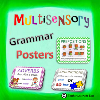 Multisensory Grammar Posters