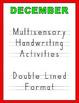Multisensory Handwriting Activities for December - No Prep Needed