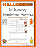 Multisensory Handwriting Activities for Halloween