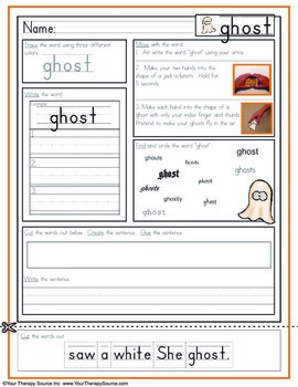 Multisensory Handwriting Activities for Halloween