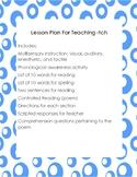 Multisensory Lesson (Orton-Gillingham based) For Teaching -tch
