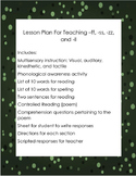 Multisensory Lesson Plan for Teaching -ff, -ss, -zz, and -ll