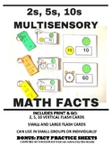 Multisensory Multiplication Math Fact Cards 2s, 5s, 10s