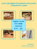 Multisensory Orton Gillingham Lessons #19 - 24 Bundle: Upper Level Skills