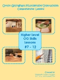 Multisensory Orton Gillingham Lessons#7-12 Bundle: Upper Level Skills