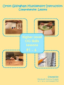 Multisensory Orton Gillingham Lessons #1-6 Bundle: Upper Level Skills
