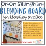 Orton Gillingham Blending Board for Blending Practice w/ D