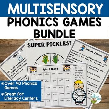 Multisensory Phonics Games Orton-Gillingham Phonics and Reading Games