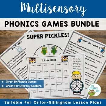 Multisensory Phonics Games Orton-Gillingham Resources