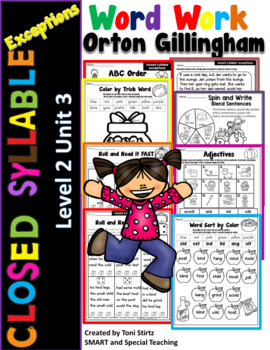 Fundations Multisensory Orton Gilligham Activities Digraph Bundle Sh, Th, and Ch