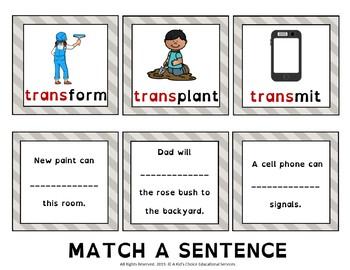 Multisensory Prefixes: TRANS-