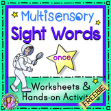 FREEBIE Multisensory Sight Word - Once - Worksheets & Hand