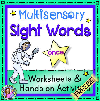 Multisensory Sight Word - Once - Worksheets & Hands-on Activities