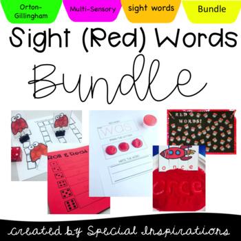 Multisensory Sight Words/Red Words Bundle (Orton-Gilingham Based)
