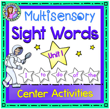 UNIT 1 Multisensory Sight Words -  Center Activities