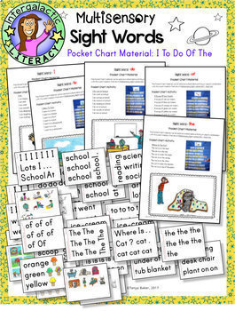 UNIT 1 Multisensory Sight Words - Pocket Chart Material
