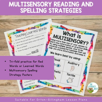 Multisensory Reading and Spelling Strategies: Supports Orton-Gillingham Lessons