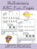 Multisensory UPPERCASE alphabet formation practice with coloring!