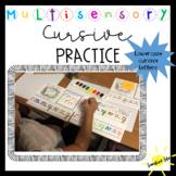 Multisensory Watercolor Approach Stroke Cursive Activity