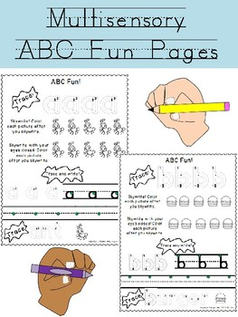 Multisensory lowercase alphabet formation practice with coloring!