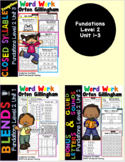 Multisensory Word Work Pack for digraph ch