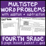 Multistep Addition & Subtraction Word Problems, 8-Page Lesson Packet, 4.OA.3