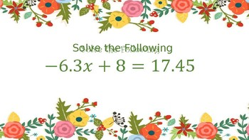 Multistep Equation Practice with Word Problems