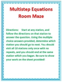 Multistep Equation Room Maze