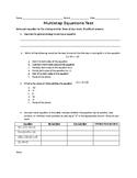 Multistep Equations Quiz/Test