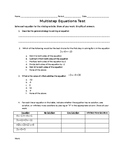 Multistep Equations Quiz/Test