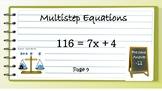 Multistep Equations Scavenger Hunt