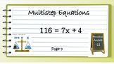 Multistep Equations Scavenger Hunt