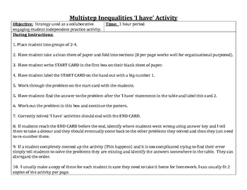 Multistep Inequalities I have Activity