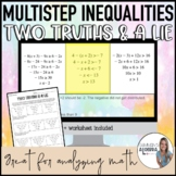 Multistep Inequalities - Two Truths and a Lie DIGITAL styl