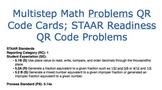 Multistep Math Problems QR Cards; STAAR Readiness QR Code