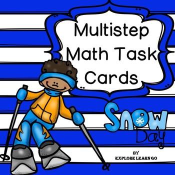 Multistep Math Task Cards / Winter Themed
