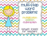 Multistep Multiplication Word Problem Task Cards