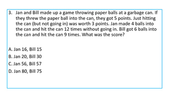 Multistep Problem Solving for Fourth and Fifth Grade