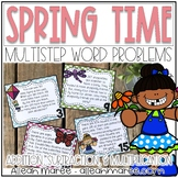 Spring Time Multistep Word Problems