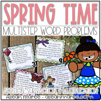 Multistep Problem Task Cards: Springing into Word Problems