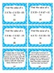 Multistep Problems Using Equations Task Cards CC.4.OA.3