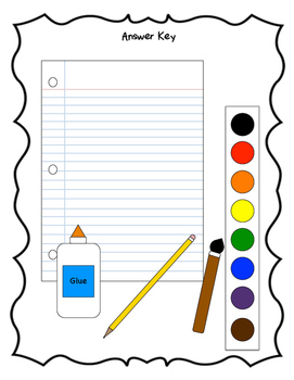 Multistep School Supplies: Temporal, Spatial, & Sequential Directions