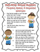 Multistep School Supplies: Temporal, Spatial, & Sequential