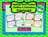 Multistep Word Problem Task Cards - Addition and Subtraction Skills